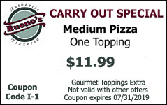 Carry out special medium pizza