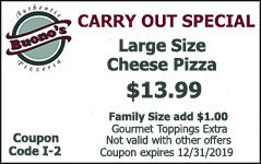 Carry Out Special Large Size Cheese Pizza Coupon
