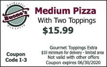 Medium Pizza Coupon $15.99