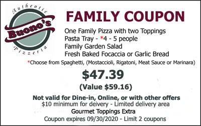 Coupons Buono S Pizzeria