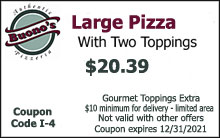 Large Pizza with Two Toppings $20.39